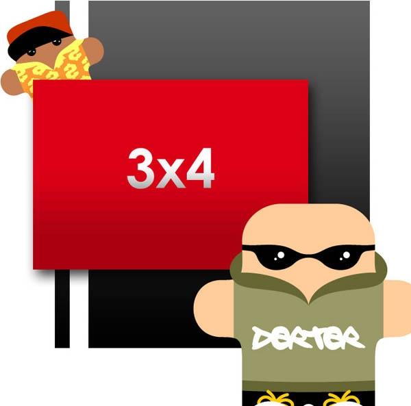Flyers: 3 x 4